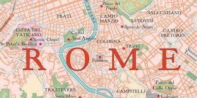 Rim Karta Karty Rima Lacio Italiya